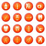 Dental care icons vector set Royalty Free Stock Photography
