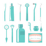 Dental Care Items Royalty Free Stock Photography