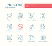 Dental Care - line design icons set Royalty Free Stock Photography