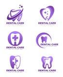 Dental Care logo sign vector set design Royalty Free Stock Photos