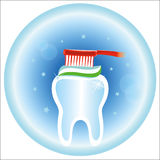 Dental care medical icon. Care and dental hygiene Royalty Free Stock Photo