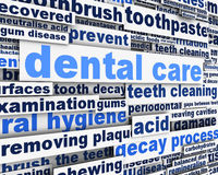 Dental care message design. Dental conceptual design Royalty Free Stock Photo