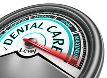 Dental care meter indicate maximum Royalty Free Stock Photo
