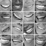 Dental care montage Stock Photos