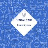 Dental care pattern Stock Images
