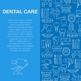 Dental care pattern Royalty Free Stock Image
