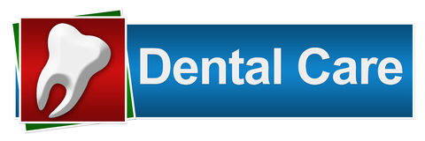 Dental Care Red Blue Green Royalty Free Stock Photos
