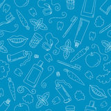 Dental care seamless pattern. Stock Images