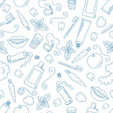 Dental care seamless pattern. Stock Photography