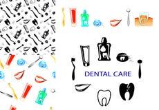 Dental care set vector illustration