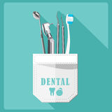 Dental care symbols. Stock Photo