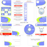 Dental care template design Royalty Free Stock Photos