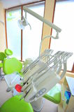 Dental care tools (doctors office) Stock Photos