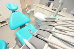 Dental care tools - modern dentists office Royalty Free Stock Image