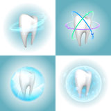 Dental care tooth design elements Stock Images