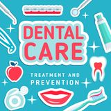 Dental care vector poster Stock Photos