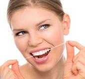 Dental care woman Royalty Free Stock Photos