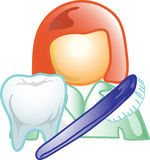 Dental career icon or symbol Royalty Free Stock Photos