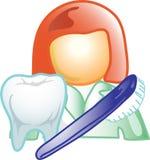 Dental career icon or symbol Royalty Free Stock Photos