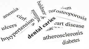 Dental caries.Health care concept of diseases caused by unhealthy nutrition Stock Photography