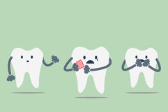 Dental cartoon vector Stock Images