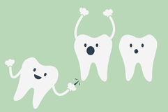 Dental cartoon vector Royalty Free Stock Photography