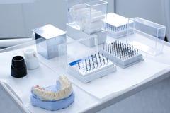 Dental ceramic preparation kit Royalty Free Stock Photo