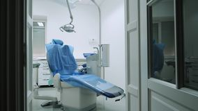 Dental Chair in the dental office stock video footage