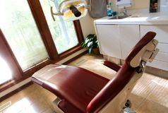 Dental chair dentist insurance Stock Photography