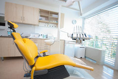 Dental chair II. A modern dental room the clinic Royalty Free Stock Image