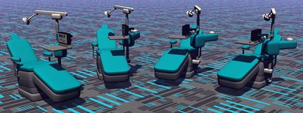 Dental chairs Stock Images