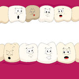 Dental characters Royalty Free Stock Images