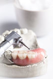 Dental check and dentistry drill Royalty Free Stock Images