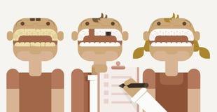 Dental checkup. For children vector Illustrator Stock Image
