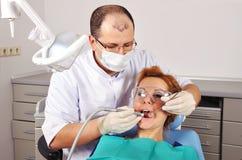 Dental checkup woman Stock Photography