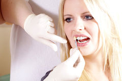 Dental cleaning Royalty Free Stock Image