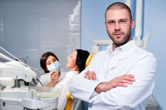 At dental clinic Royalty Free Stock Image