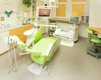 Dental clinic. Modern consukting room in dental clinic Stock Photo