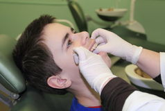 In dental clinic Stock Image