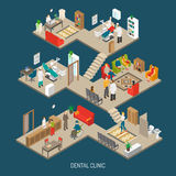 Dental Clinic Concept Isometric Banner Stock Photo