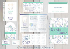 Dental Clinic corporate identity template Royalty Free Stock Photos
