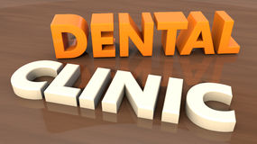 Dental clinic 3d text Royalty Free Stock Photo