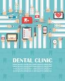 Dental clinic flat design.lorem ipsum is simply text. Vector illustration vector illustration