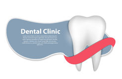 Dental Clinic Icon Vector Illustration Royalty Free Stock Photography