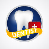Dental Clinic Icon Vector Illustration Stock Image