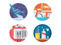 Dental clinic icons set Stock Image