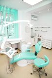 Dental clinic interior design with chair and tools Royalty Free Stock Photography