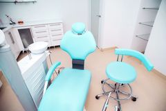Dental clinic interior design with chair and tools Royalty Free Stock Photos