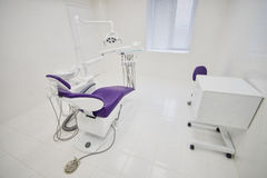 Dental clinic interior with modern dentistry equipment, surgery office