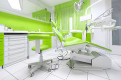 Dental clinic. Interior with modern dental equipment stock image